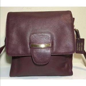 Laura Scott Women Handbag Genuine Leather Burgundy